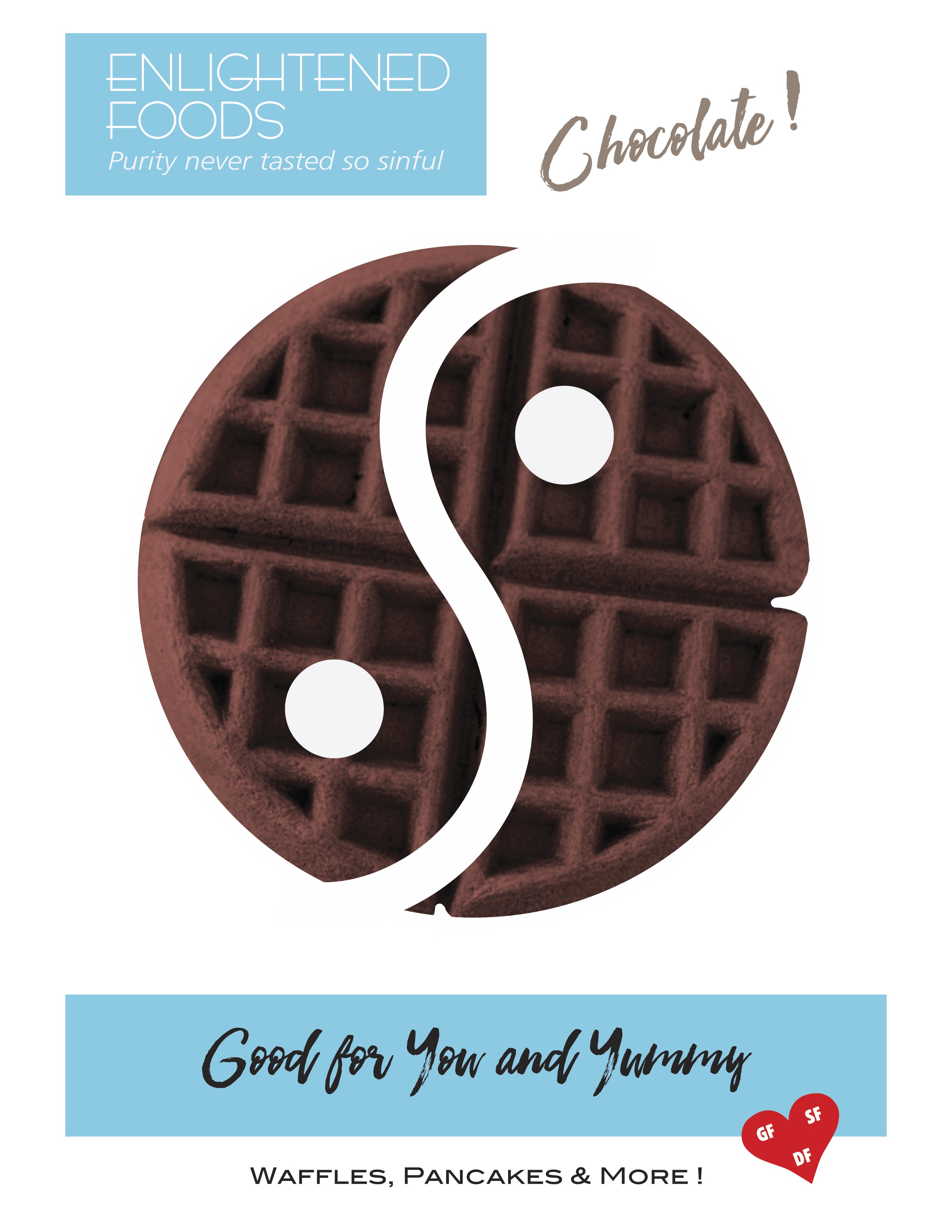 The ULTIMATE Almond Coconut Waffle Mix, Gluten/Dairy/Soy-Free - Chocolate