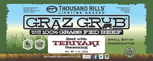 Graz Grub Beef Bar Teriyaki, 100% Grass Fed Beef 1oz